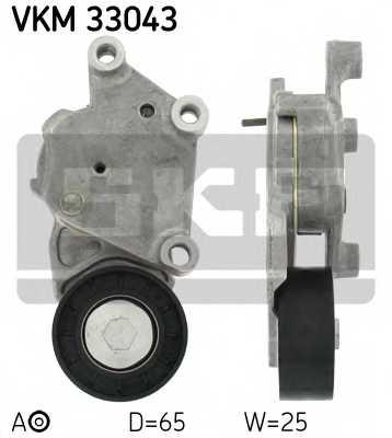 Натяжной ролик поликлиновогоременя SKF VKM 33043 - изображение