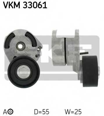 Натяжной ролик поликлиновогоременя SKF VKM 33061 - изображение