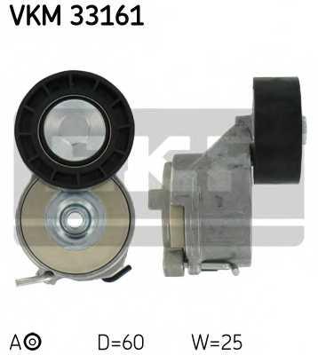 Натяжной ролик поликлиновогоременя SKF VKM 33161 - изображение