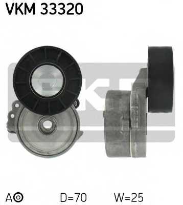 Натяжной ролик поликлиновогоременя SKF VKM 33320 - изображение