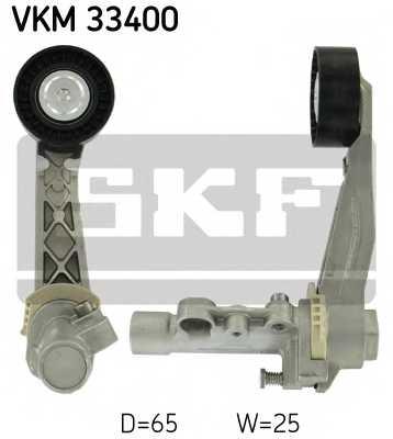 Натяжной ролик поликлиновогоременя SKF VKM 33400 - изображение