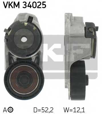 Натяжной ролик поликлиновогоременя SKF VKM 34025 - изображение
