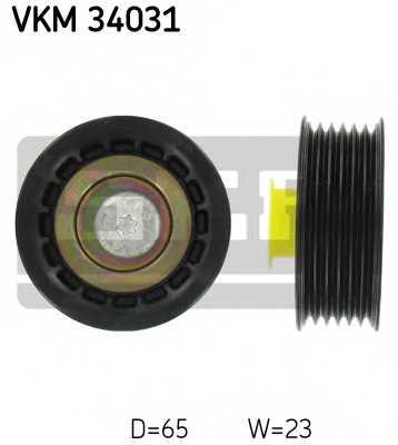 Паразитный / ведущий ролик поликлинового ременя SKF VKM 34031 - изображение