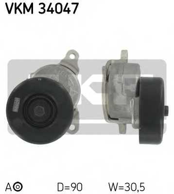 Натяжной ролик поликлиновогоременя SKF VKM 34047 - изображение