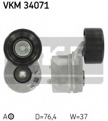 Натяжной ролик поликлиновогоременя SKF VKM 34071 - изображение
