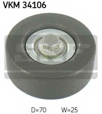 Паразитный / ведущий ролик поликлинового ременя SKF VKM 34106 - изображение