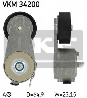 Натяжной ролик поликлиновогоременя SKF VKM 34200 - изображение