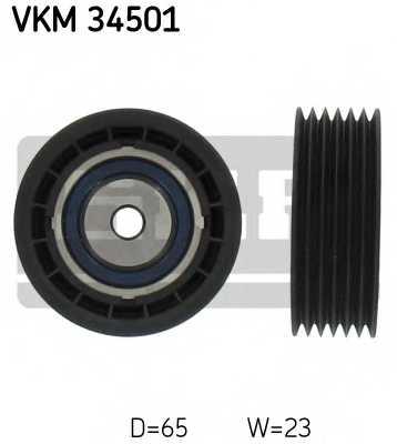 Паразитный / ведущий ролик поликлинового ременя SKF VKM 34501 - изображение