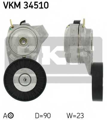 Натяжной ролик поликлиновогоременя SKF VKM 34510 - изображение
