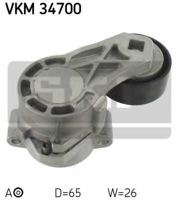 Натяжной ролик поликлиновогоременя SKF VKM 34700 - изображение
