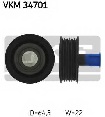 Паразитный / ведущий ролик поликлинового ременя SKF VKM 34701 - изображение