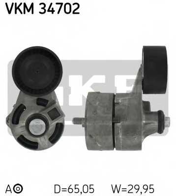 Натяжной ролик поликлиновогоременя SKF VKM 34702 - изображение