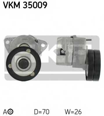 Натяжной ролик поликлиновогоременя SKF VKM 35009 - изображение