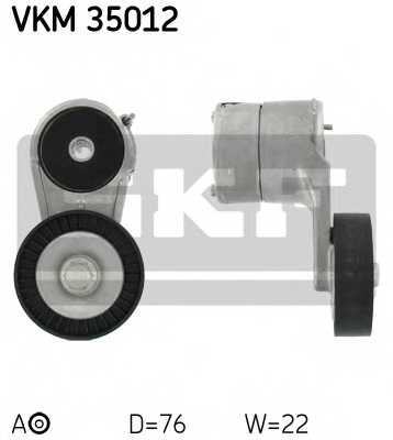Натяжной ролик поликлиновогоременя SKF VKM 35012 - изображение