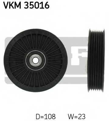Паразитный / ведущий ролик поликлинового ременя SKF VKM 35016 - изображение