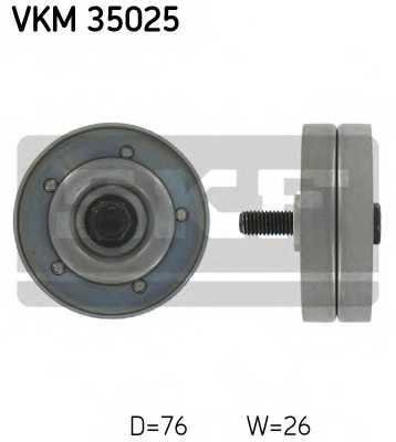 Паразитный / ведущий ролик поликлинового ременя SKF VKM 35025 - изображение