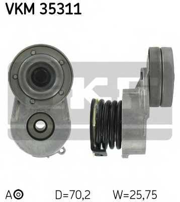 Натяжной ролик поликлиновогоременя SKF VKM 35311 - изображение