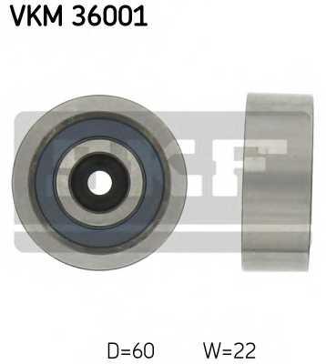Паразитный / ведущий ролик поликлинового ременя SKF VKM 36001 - изображение