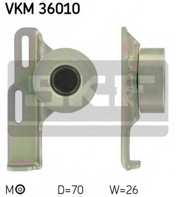 Натяжной ролик поликлиновогоременя SKF VKM 36010 - изображение