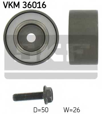 Паразитный / ведущий ролик поликлинового ременя SKF VKM 36016 - изображение