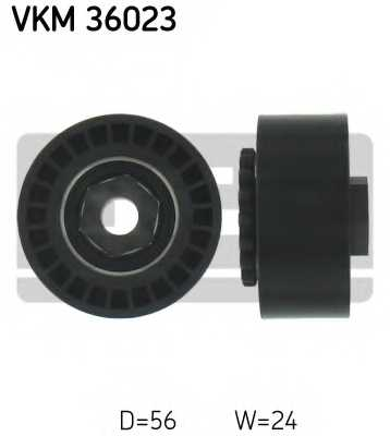 Натяжной ролик поликлиновогоременя SKF VKM 36023 - изображение
