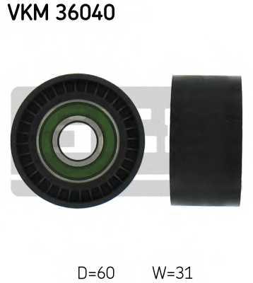 Паразитный / ведущий ролик поликлинового ременя SKF VKM 36040 - изображение