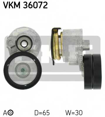 Натяжной ролик поликлиновогоременя SKF VKM 36072 - изображение