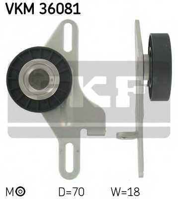 Натяжной ролик поликлиновогоременя SKF VKM 36081 - изображение