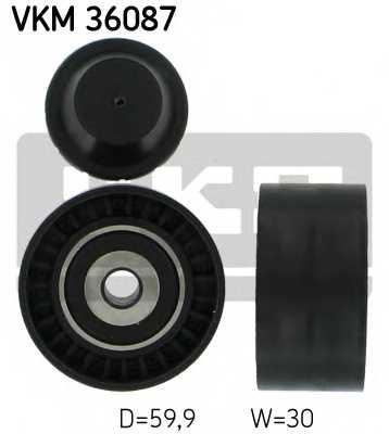 Паразитный / ведущий ролик поликлинового ременя SKF VKM 36087 - изображение