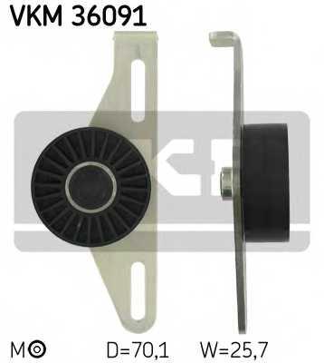 Натяжной ролик поликлиновогоременя SKF VKM 36091 - изображение