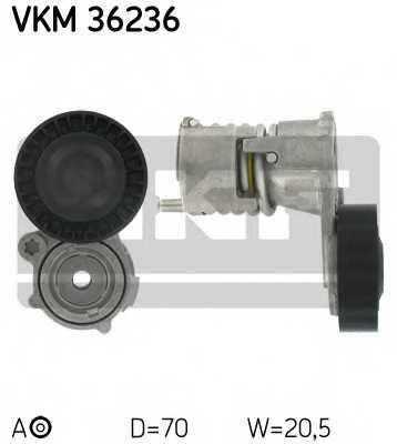 Натяжной ролик поликлиновогоременя SKF VKM 36236 - изображение