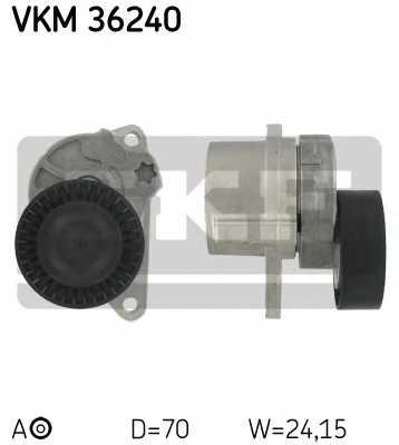 Натяжной ролик поликлиновогоременя SKF VKM 36240 - изображение