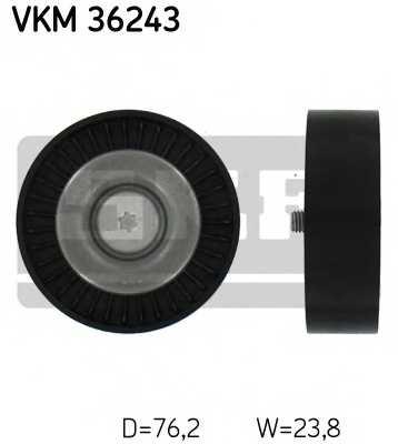 Паразитный / ведущий ролик поликлинового ременя SKF VKM 36243 - изображение