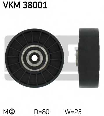 Натяжной ролик поликлиновогоременя SKF VKM 38001 - изображение