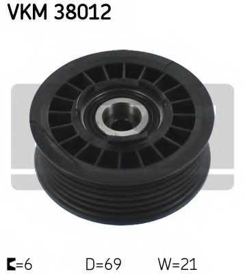 Паразитный / ведущий ролик поликлинового ременя SKF VKM 38012 - изображение