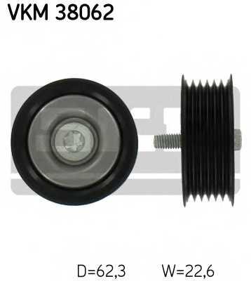 Паразитный / ведущий ролик поликлинового ременя SKF VKM 38062 - изображение