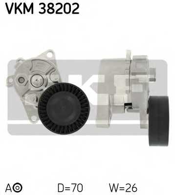 Натяжной ролик поликлиновогоременя SKF VKM 38202 - изображение