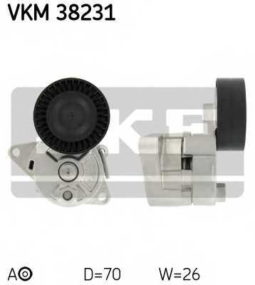 Натяжной ролик поликлиновогоременя SKF VKM 38231 - изображение
