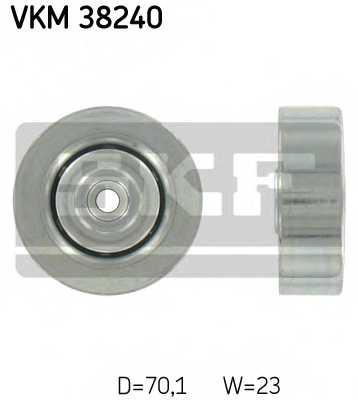 Паразитный / ведущий ролик поликлинового ременя SKF VKM 38240 - изображение