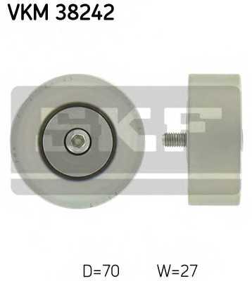 Паразитный / ведущий ролик поликлинового ременя SKF VKM 38242 - изображение