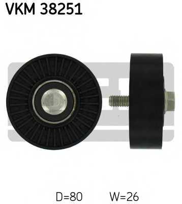 Паразитный / ведущий ролик поликлинового ременя SKF VKM 38251 - изображение