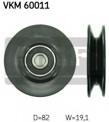 Паразитный / Ведущий ролик клинового ременя SKF VKM 60011 - изображение