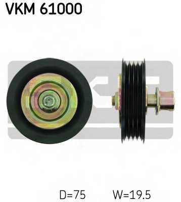 Паразитный / ведущий ролик поликлинового ременя SKF VKM61000 - изображение