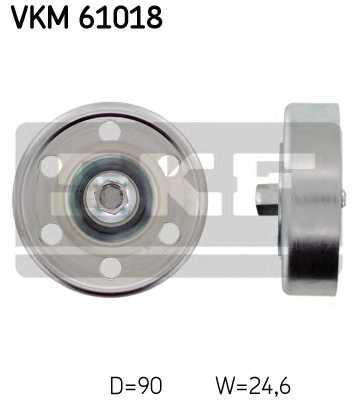 Паразитный / ведущий ролик поликлинового ременя SKF VKM 61018 - изображение
