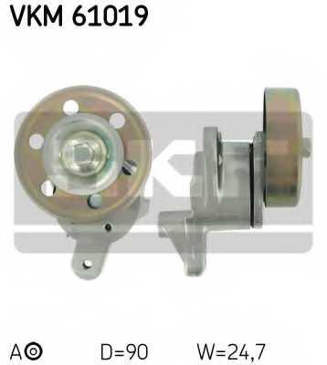 Натяжной ролик поликлиновогоременя SKF VKM 61019 - изображение