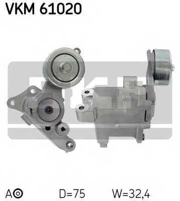 Натяжной ролик поликлиновогоременя SKF VKM 61020 - изображение