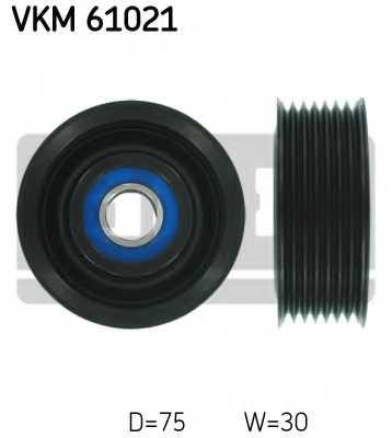 Паразитный / ведущий ролик поликлинового ременя SKF VKM 61021 - изображение