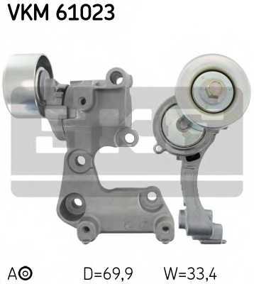 Натяжной ролик поликлиновогоременя SKF VKM 61023 - изображение