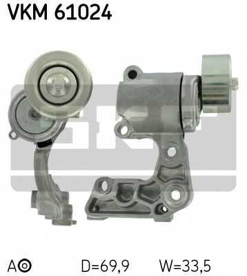 Натяжной ролик поликлиновогоременя SKF VKM 61024 - изображение