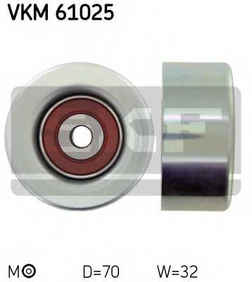 Паразитный / ведущий ролик поликлинового ременя SKF VKM 61025 - изображение